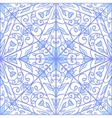 Blue geometric floral pattern vector image