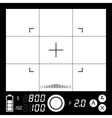 Camera viewfinder vector image