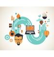 Design creative idea and innovation concept vector image