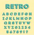 Graphic 3d retro characters vector image