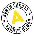 North Dakota stamp vector image