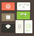 Set of business cards For cafe and restaurant vector image