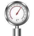 Temperature meter gauge vector image