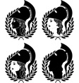 set of athena profiles stencils vector image vector image