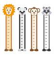 children meter wall vector image vector image