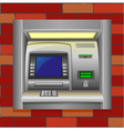 atm on a brick wall vector image vector image