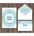 Wedding set with lace elements vector image vector image