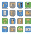 Automated Assembly Square Icon Set vector image