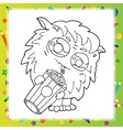 Black and White of Funny Monster vector image