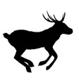 decoration elegance horned object shadow buck vector image