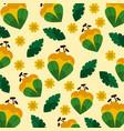 floral flower natural leaves decoration pattern vector image