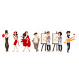 french people mimes artists - symbols of france vector image