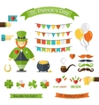 Happy St Patricks Day icon set vector image