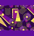 Memphis seamless pattern geometric elements vector image