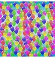 Seamless pattern of colorful balloons on a blue vector image