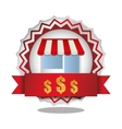 store on business label vector image