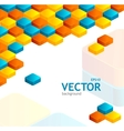 Abstrast cube background vector image vector image