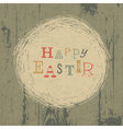 vintage easter greeting card with nest vector image vector image
