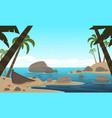 cartoon tropical beach vector image
