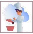 Nice background with Funny Chef vector image