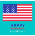 American flag Presidents Day background flat vector image