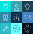 icons and signs in trendy linear style vector image