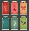 Holiday christmas gift tags vector image