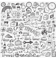 travel doodles sketch icons vector image vector image