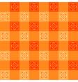 Orange Flower Chessboard Background vector image