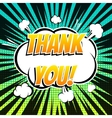 Thank you comic book bubble text retro style vector image