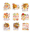 africa logo original design travel to africa vector image
