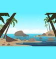 cartoon tropical beach vector image
