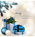 Christmas composition on brilliant vector image