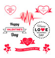 digital red heart vector image