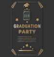 graduation ceremony announcement rich golden vector image