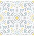 grey blue yellow tribal seamless pattern vector image