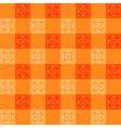 Orange Flower Chessboard Background vector image