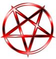 Red pentagram vector image