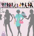 Shopping girls paris vector image