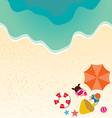 Summer holiday background with boy and girl vector image