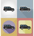 transport flat icons 06 vector image