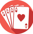 Four Aces Icon vector image
