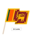Sri Lanka Ribbon Waving Flag Isolated on White vector image