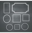 Chalkboard Frames vector image
