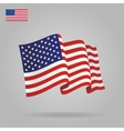 Flat and waving American Flag vector image