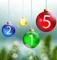 Christmas balls and Christmas tree on a background vector image vector image