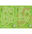 Egg hunt maze vector image vector image