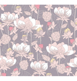 seamless pastel floral pattern vector image