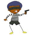Robber holding a gun vector image