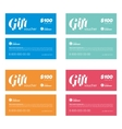 gift coupon set vector image